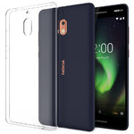 Flexi Thin Crystal Gel Case for Nokia 2.1 - Clear (Gloss Grip)